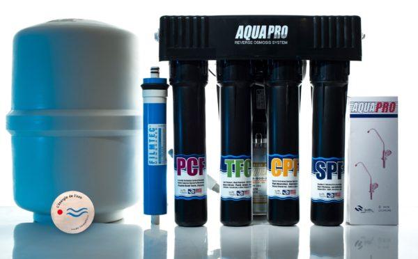 Ósmosis inversa AP 680, bomba de refuerzo, 4 niveles + revitalización Aqua Disc