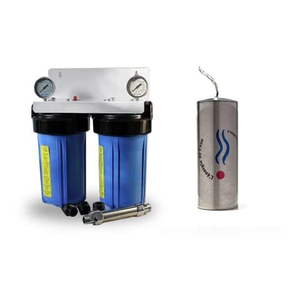 YdroKalk, filtration centralisée + Anti-calcaire + Revitalisation Aqua Home